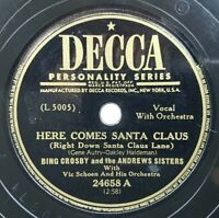 Bing Crosby Andrews Sisters Here Comes Santa Claus 12 Days Christmas 78rpm Decca