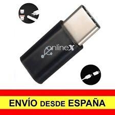 Adaptador Micro USB Hembra a USB 3.1 Tipo C Macho negro a1074