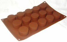 NEW 15 ROUND SHAPE SILICONE CHOCOLATE SWEET CAKE ICE SOAP MOULD PREMIER 4994