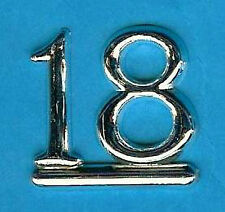SILVER 18 NUMBERS/NUMERALS (Pk of 6) CAKE DECORATION/CARDS