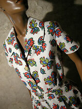 CHIC VINTAGE ROBE 50s VTG DRESS 1950 ZAZOU ANNEES 50 KLEID 50er ABITO RETRO (38)