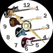 Bass Guitar Novelty Cd Clock Can be personalised