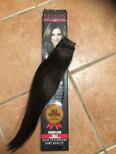 "Hair Extension adjustable clips 18"" Color 2 Dark Brown"