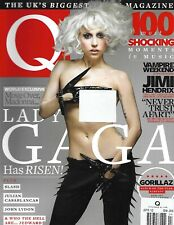 Q Music Magazine Lady Gaga Jimi Hendrix Vampire Weekend Slash John Lydon 2010