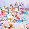 UNICORN Theme Birthday Supplies Party Decorations Cups Plates Cover BALLOON