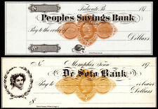 US Revenue Stamps: RN-D1, RN-D4, Choice Uncirculated Checks, 1870s