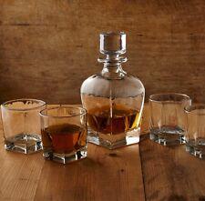 Whiskey Lovers Set 5 Piece Decanter Bar Den Scotch Bourbon Alcohol Glass GIFT
