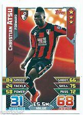 2015 / 2016 EPL Match Attax Base Card (14) Christian ATSU AFC Bournemouth