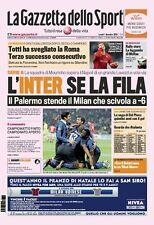GAZZETTA DELLO SPORT 1 DICEMBRE 2008 ROMA TOTTI INTER