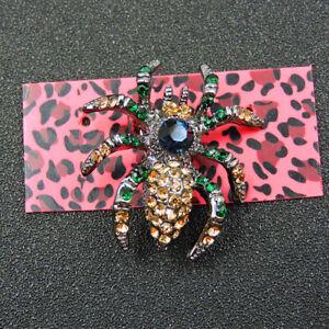 New Yellow Rhinestone Spider Tarantula Betsey Johnson Charm Brooch Pin Gift
