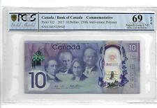Canada/Bank of Canada 2017 10 Dollars 150th Anniversary PCGS 69 OPQ