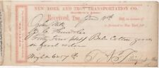 Ny And Troy Transportation Co, Griffith's Line, To Ogden Mills, Cohoes, Ny 1857
