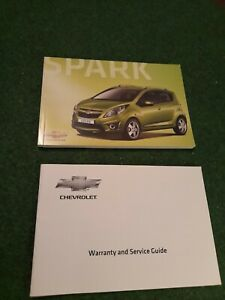 Chevrolet Spark Owners Manual Handbook and Warranty Service Book