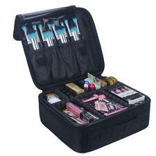 Professional Makeup Organizer Bag Cosmetic Case Travel 24cm Suitcase Black Rose