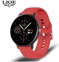 LIGE reloj inteligente hombre/mujer resistente al agua, Bluetooth, IOS y Android