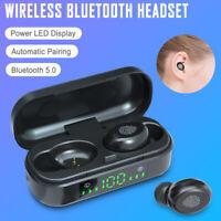 Waterproof Bluetooth 5.0 Earbuds Headphone TWS Wireless Headset Noise Cancelling