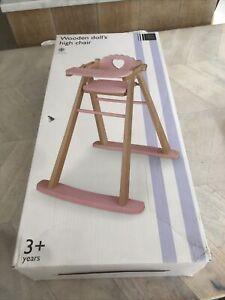 John Lewis Wooden Dolls High Chair*****unused***