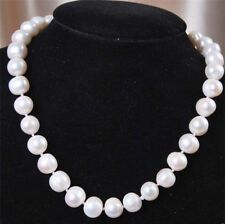 """10-11mm Genuine Natural Ms White Akoya Freshwater Pearl Necklace 18"""""""