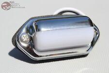 Oval Oblong Milky White Chrome License Plate Light Lamp Car Boat Trailer Hot Rod