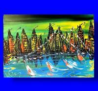NYC by Mark Kazav  Abstract Modern CANVAS Original Oil Painting NUPY89U