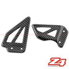 2001 2002 Suzuki GSX-R 1000 Rearset Foot Peg Heel Guard Plates Carbon Fiber