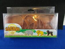 Safari cookie cutter copper plated set with case elephant lion gorilla 3 piece