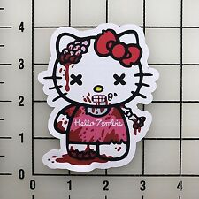 "Hello Kitty Zombie 4"" Tall Color Vinyl Decal Sticker BOGO"