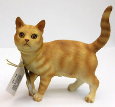 Shorthair Red Tabby Cat Figurine, Standing, Conversation Concepts, Item Cf14