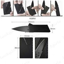 Black 3pcs Portable Folding Card Knife Camping Compact Card Pack Tool