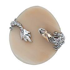 John Hardy Naga Sterling Silver Buffalo Horn Ring size 7