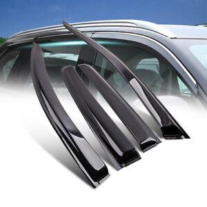 4pcs Weather Shield Weathershields For ISUZU MUX MU-X 13-19 Window Glass Molding
