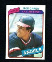 NMT 1980 Topps Baseball #700 Rod Carew AS HOF.