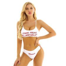 Women Sexy Push Up Bikini Set Camisole Bra Crop Tops Tank Top Underwear Swimwear