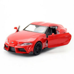 1:36 Toyota Supra Model Car Diecast Toy Vehicle Pull Back Kids Red Collection