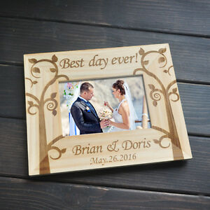 Personalized Picture Frame Wedding Gift Engagement Gift for Couple Gift For Her