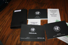 2018 alfa romeo Giulia owners manual with case
