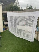 More details for large vintage crocheted tablecloth 2.2m x 2.6m approximately
