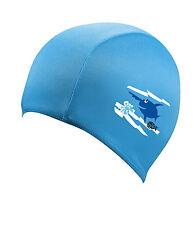 Beco Sealife Textil Badekappe 7703 Schwimmhaube Textile Cap for Kids (blau)