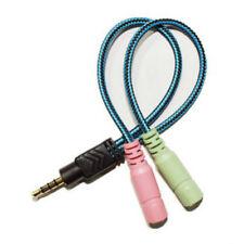 3.5mm Audio Y-Splitter Kabel Adapter Kopfhörer für PC Laptop Headset Neu FL