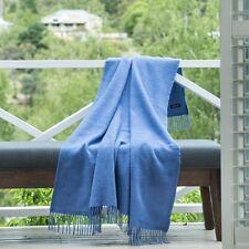 CRESWICK ALPACA WOOL LUXURY LOUNGE COUCH BED THROW BLANKET FRINGE STORM RRP $199