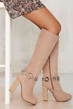 NEW JEFFREY CAMPBELL $325 BEIGE SUSSEX NUBUCK BOOTS SHOES SZ 6