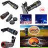 HD 8/12 / 20X Teleskop Zoom Clip Auf Kamera Linse Für Universal Handy Set