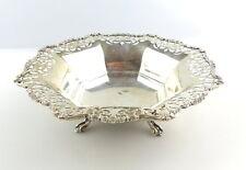 #e4908 Tolle alte Sheffield & London Schale in 925er Silber für Obst / Konfekt
