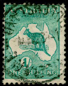 AUSTRALIA SG11a, 1s blue-green, USED. Cat £25.