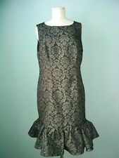 Oscar de la Renta Party Dress Jaquard Size 10