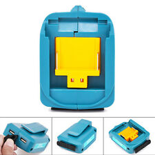 2 USB Ports Phone Charger Adapter Li-ion Battery For Makita BL1830/ BL1430 Tool