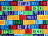 THE COLOR EXPRESS RAINBOW COLORS QUILTING TREASURES  COTTON FABRIC  BY THE YARD