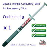 1 x Silicone GD66 Thermal Heatsink Processor CPU Paste Grease Tube / Syringe