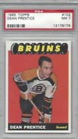 1965 Topps hockey card #102 Dean Prentice, Boston Bruins graded PSA 7 NM tuff!
