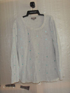 """""""SUSSAN"""" 100% Cotton Long Sleeve Knit Top. Size XL"""